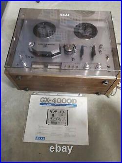 AKAI GX-4000D REEL to REEL TAPE RECORDER-New cap upgrade