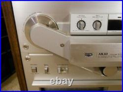AKAI GX-747 Reel To Reel Tape Deck Recorder With AKAI Reel + Tape