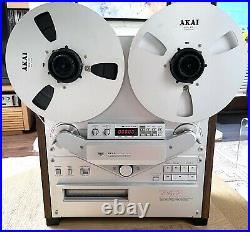 AKAI GX-747 reel tape deck complete with factory 10 reels, hubs and rare remote