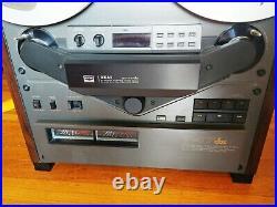 AKAI GX-747dbx Reel to Reel Tape Recorder, Manual Beautiful & Works (Read)