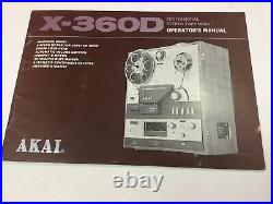 AKAI X-360D Reel-to-Reel Tape Recorder Professionally Serviced