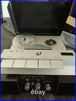 AKAI X-V Crossfield Reel to Reel Portable Tape Recorder Vintage 1960s Untested