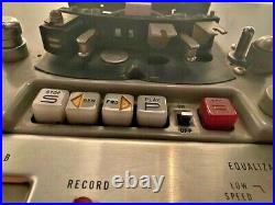 AMPEX PR10-2 Stereo Tube Preamp & Reel To Reel Tape Recorder 15ips UNTESTED
