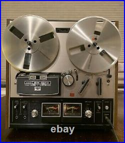 Akai GX-210D 3-Motor Auto Reverse Reel To Reel Tape Recorder Please Read