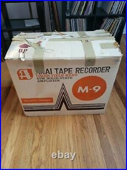 Akai M-9 Solid State Reel-to-Reel Tape Deck Player / Recorder with Box