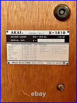Akai X-1810 1/4 Stereo Reel to Reel Tape Recorder with 8-Track player Vintage