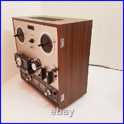 Akai X-201D Auto Reverse PROFF. SERVICED Reel to Reel Tape Recorder + Reels +