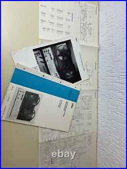 Braun TG 1000/4 Tape Recorder 4 Gauge Reel to Reel Dieter Rams Top Incl. 2 Coils
