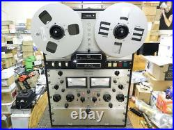 Crown CX824 Reel to Reel + TRAC-SYNC + Tape Counter + D40 Amp + Case + NAB Hubs