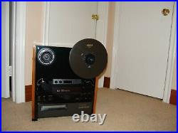 Custom Made Black Mint Akai Gx-747 Reel To Reel Tape Deck Recapped And Serviced
