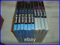 Lot-10 MAXELL UD 35-180(N) 10-1/2 Metal Reel 1/4 Sound Recording Tapes -NEW