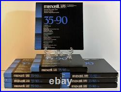 Maxell UD 35-90 Reel to Reel Sound Recording Tape / lot of 8 1800 ft Tapes