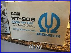 Pioneer RT-909 4-Track 2-Channel Stereo Auto Reverse Reel To Reel Estate Find