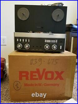 Revox A77 Stereo 4 Track Reel To Reel Tape Recorder/Germany