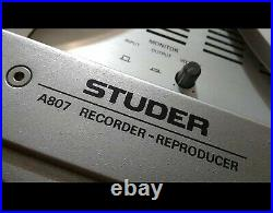 STUDER A807 Reel to Reel Tape Recorder with Trolley Stand Good Condition