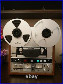 Sony TC-850 Reel-to-reel tape recorder writes and plays 4 tracks plays 2