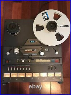 TASCAM 38 Reel to Reel 8-channel RECORDER/REPRODUCER with RC-71 Remote Ex Cond