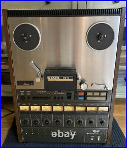 TEAC 80-8 Tascam Series DX-8 DBX 8-CH Reel to Reel 1/2 With Remote/Manuals+Extras