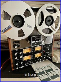 TEAC A-3340 10.5 inch 4 Track STEREO QUAD reel to reel tape deck recorder. Nice