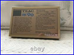 TEAC CRC 90 HIGH BIAS BLANK RECORDING CASSETTE TAPE GOLD REELS Still SEALED