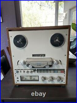 TEAC X-10R REEL TO REEL TAPE DECK RECORDER With Wooden Outer Case