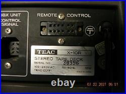 TEAC X-10R REEL TO REEL Tape deck working