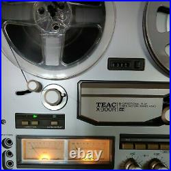 TEAC X-300R REEL TO REEL TAPE DECK RECORDER Plays well New belt installed
