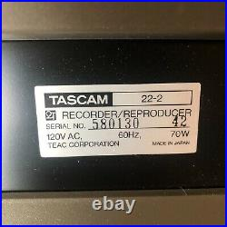 Tascam 22-2 Reel to Reel 2 Track Stereo Tape Recorder Reproducer