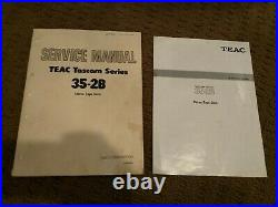 Teac 35-2B vintage reel to reel player/recorder, Tascam analog stereo tape deck