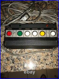 Vintage Rare Ampex 440 Remote Control for reel to reel tape machine with cable