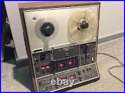 Vintage Sony TC-366-4 Quadradial Reel To Reel Tape Recorder
