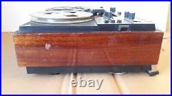 Vintage Soviet Reel to Reel Tape Portable Recorder Player Turn snow-202 USSR