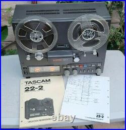 Vintage Tascam 22-2 Tape Deck Reel to Reel As Is for Repair Nice with Manual