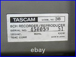 Vintage Tascam 38 1/2 Tape 8-Track Reel to Reel Recorder Reproducer 8-Channel